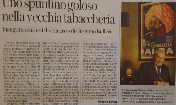 Corriere della Sera bacaro