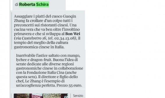 Corriere della Sera Roberta Schira