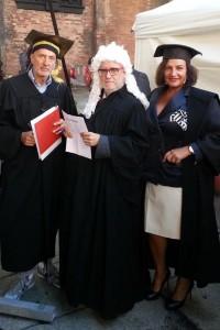 Con il collega giornalista Cannì ed Edoardo Raspelli a Ororosso per il processo al Pomodoro. Piacenza 5, Ottobre.